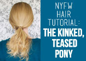 NYFW Ponytail Tutorial