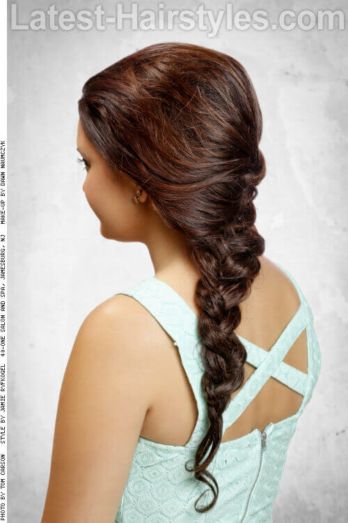 Long Braided Hairstyle for Spring Back