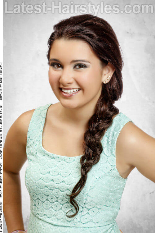 Long Braided Hairstyle for Spring