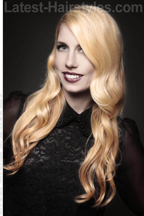 Long Haircut with Spiral Waves and Bright Color