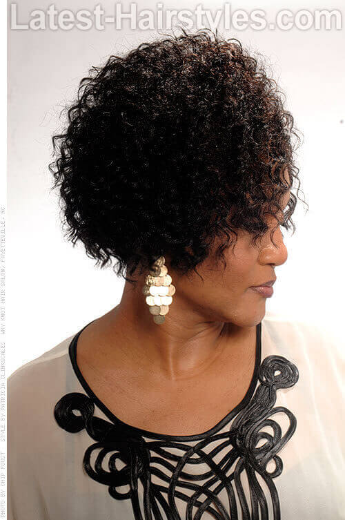 Natural Curly Hairstyle for Spring Side