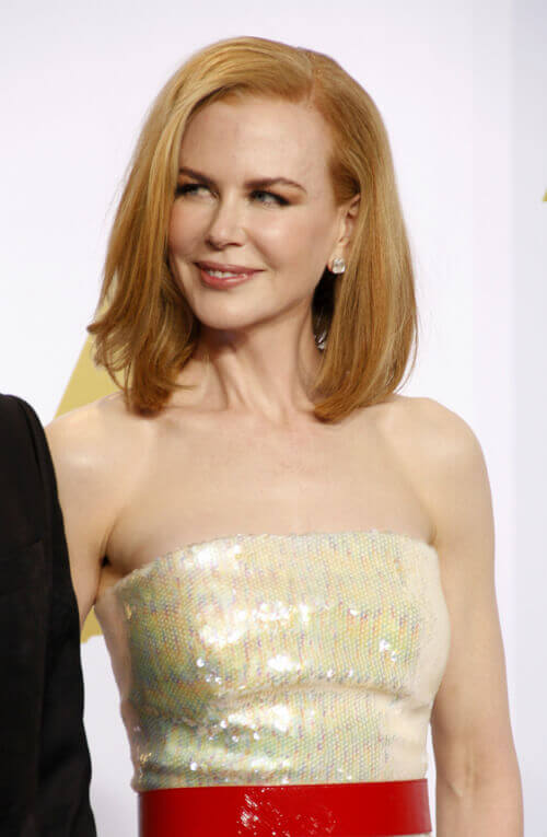 Nicole Kidman Long Bob with Heavy Part