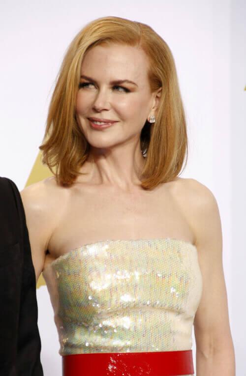Nicole Kidman Long Bob with Heavy Part