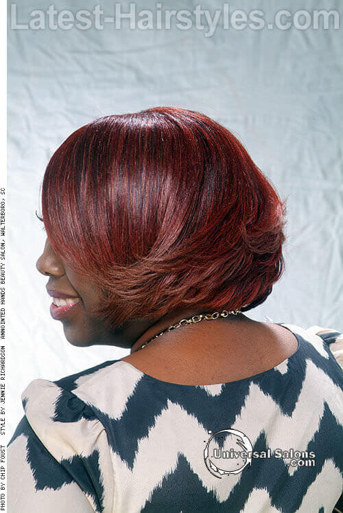 Sassy Red Bob Hairstyle for Spring Back