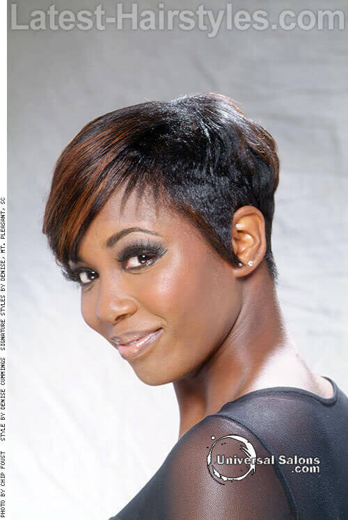 Short Spring Haircut with Elongated Fringe Side
