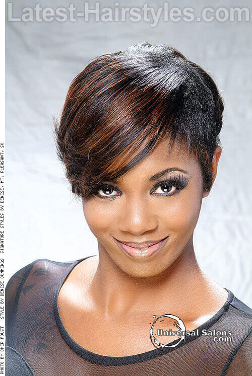 Short Spring Haircut with Elongated Fringe