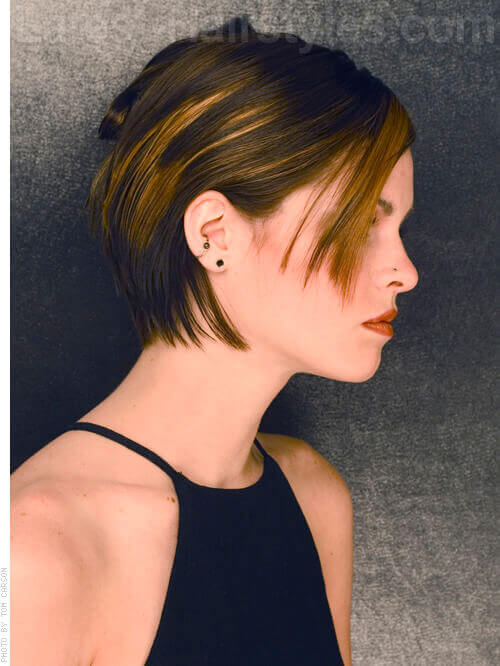Short Straight Haircut with Texture