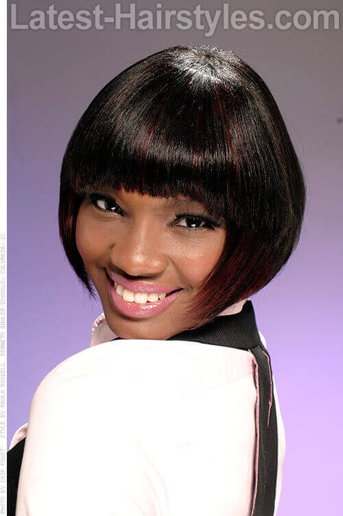Patrica Passion Striking Bob Cut with Fringe
