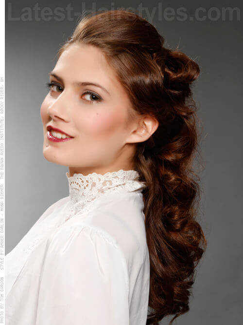 Vintage Inspired Haircut with Updated Loose Curls