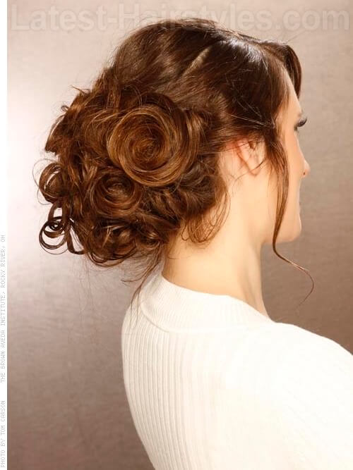 Bangin Updo Cute Upswept Look View 2
