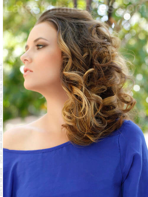 Bashful Brunette Long Down Hairstyle for Prom View 2
