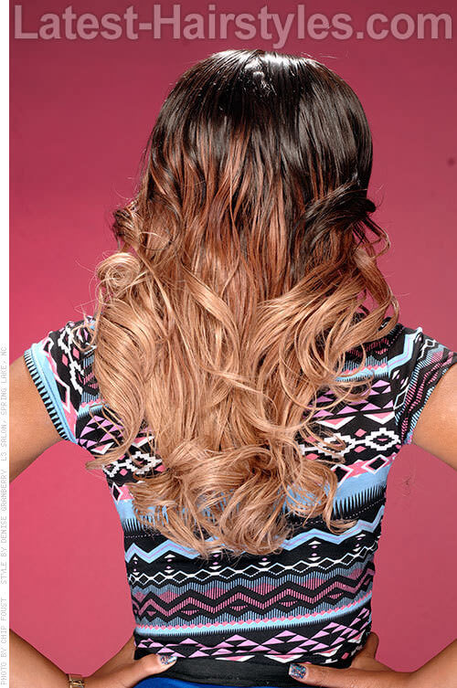 Carmelita Long Beautiful Down Hairstyles For Prom with Highlights