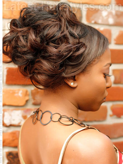 16 beautiful black hairstyles that are perfect for weddings curled updo pmusecretfo Image collections