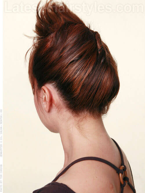 French Twist Burst Back View