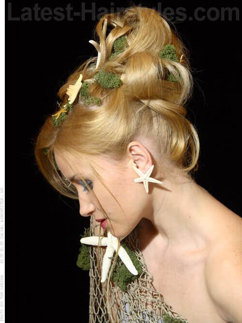 Mermaid Mania Upswept Blonde Look Side View