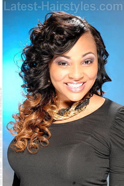 ombre queen curls