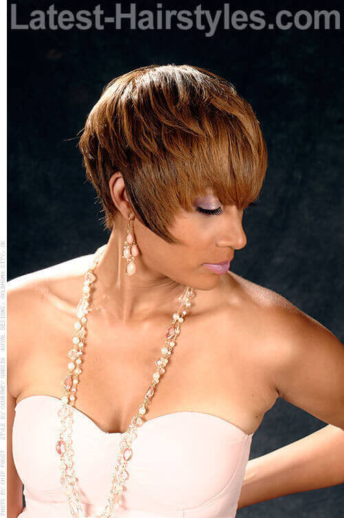 opulent medium bob light brown highlights