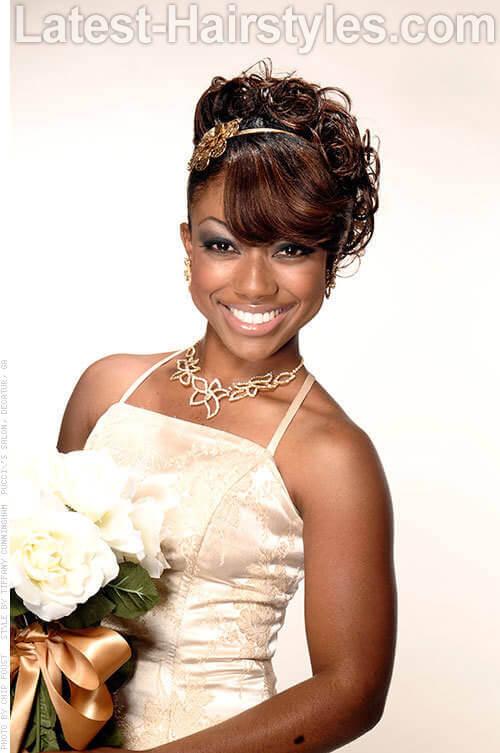 Enjoyable 11 African American Wedding Hairstyles For The Bride Amp Her Bridesmaids Short Hairstyles Gunalazisus