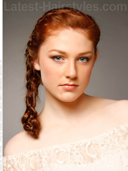 Classic Side French Braid Hairstyle