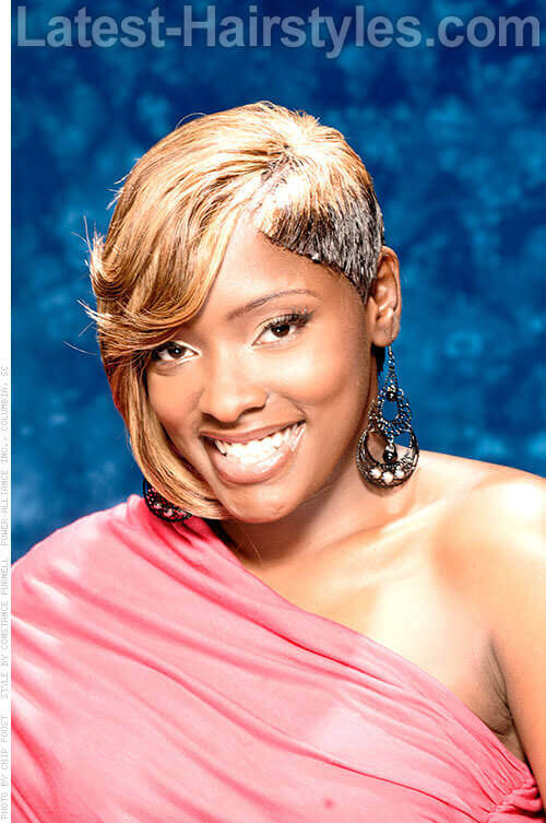 Classy Short Black Prom Hairstyle