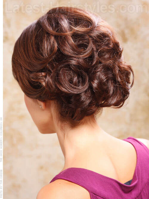Best Curled Updo with Side Part