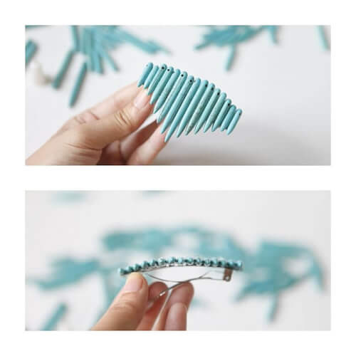 DIY Spiked Barette Hair Accessories