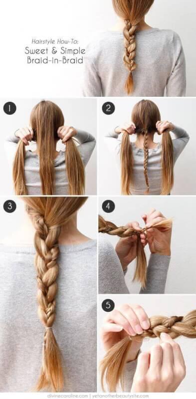 Красивые косички своими руками на длинные волосы