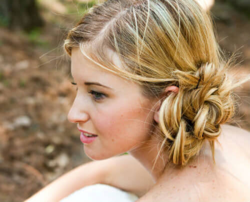 Easy Bridal Side Bun Hairstyle