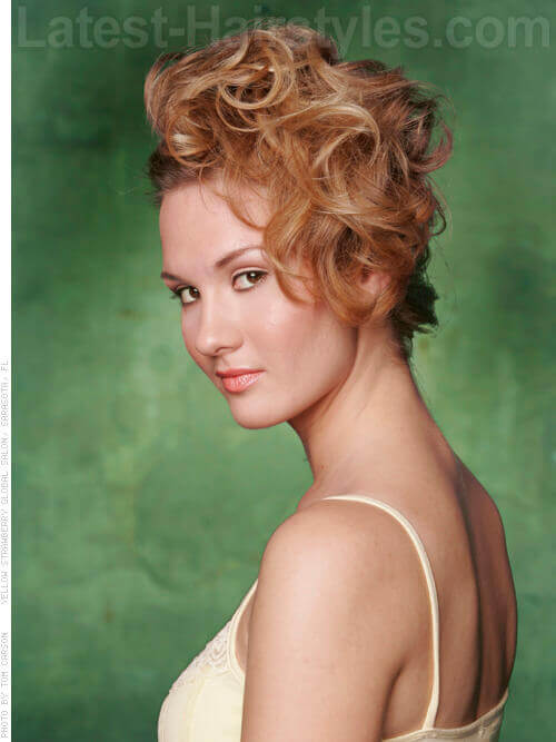 Easy Sexy Updo with Curls
