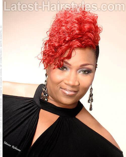 Fiery Red Versatile Mohawk Black Hairstyles