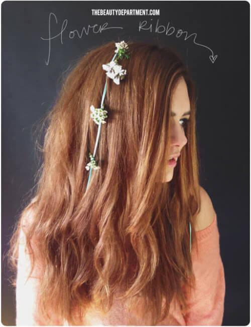 Flower Ribbon DIY Hair Accessories