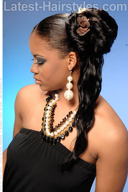 Outstanding 11 African American Wedding Hairstyles For The Bride Amp Her Bridesmaids Short Hairstyles Gunalazisus