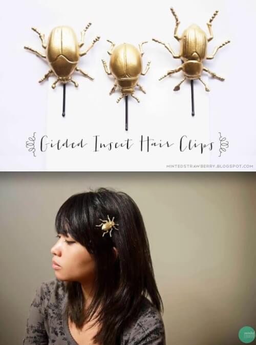 Gilded Bugs Hair Accessory