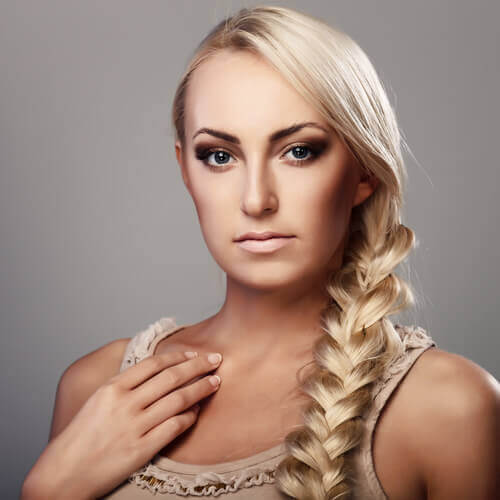 Long Blonde Hairstyle with Braid