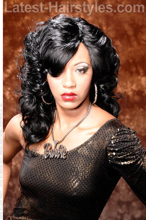 15 weave styles to rock just in time for this season long dark weave hairstyle with curls pmusecretfo Choice Image
