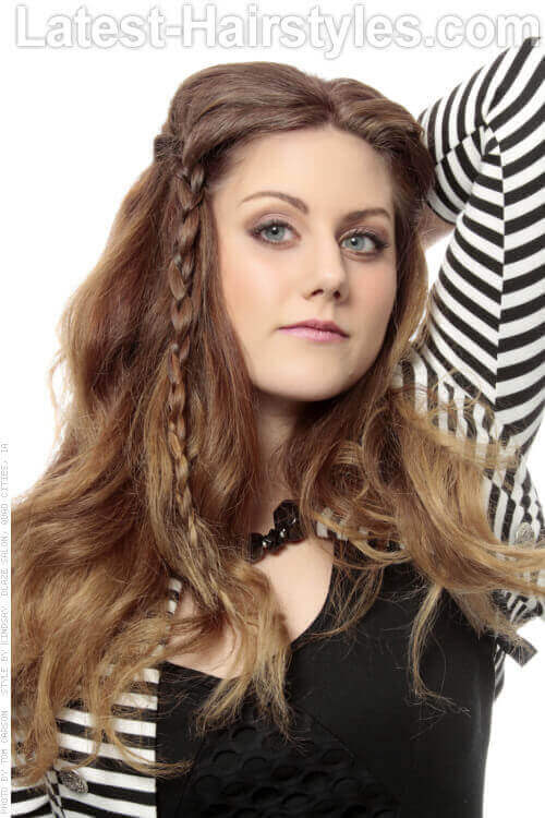 Funky Long Fun Hairstyle with Braids and Waves
