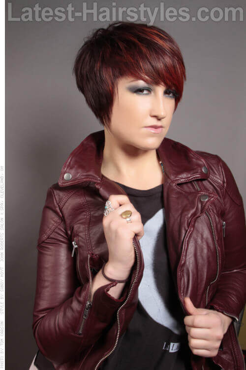 Long Pixie Hairstyle With Fringe