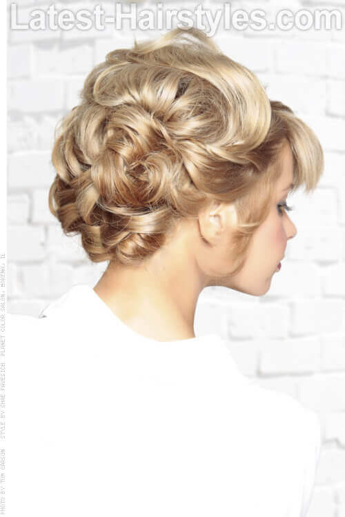 Low Deconstructed Braid Updo Back View