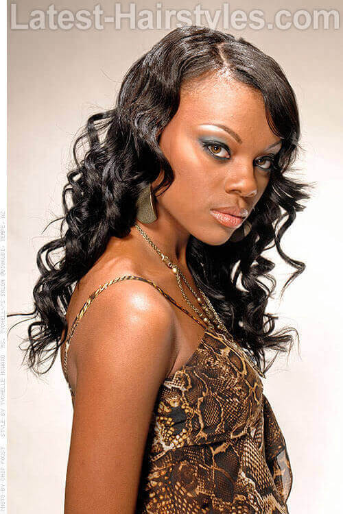 Natural U Part Weave Hairstyle