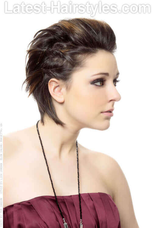 Short Edgy Hairstyle with Twists Side View
