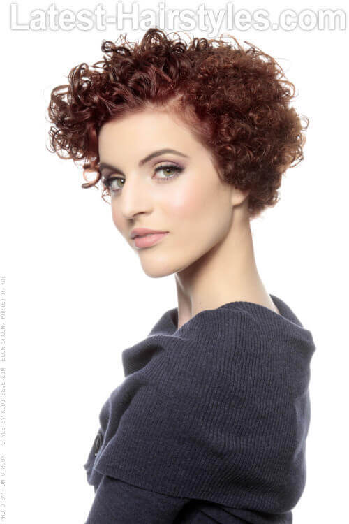 Short Hairstyle with Natural Curls