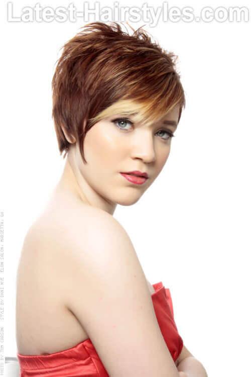 Short Polished Bedhead Hairdo For Short Hair