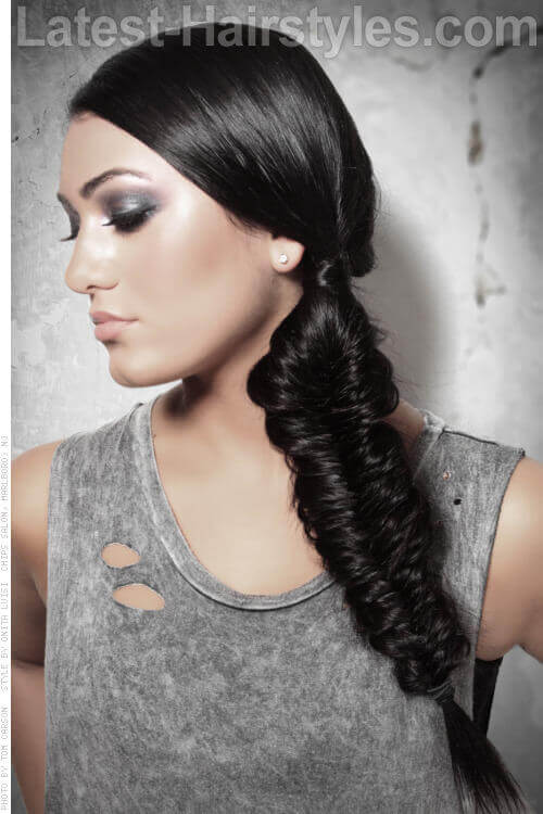 Simple Fishtail Braid Hairstyle