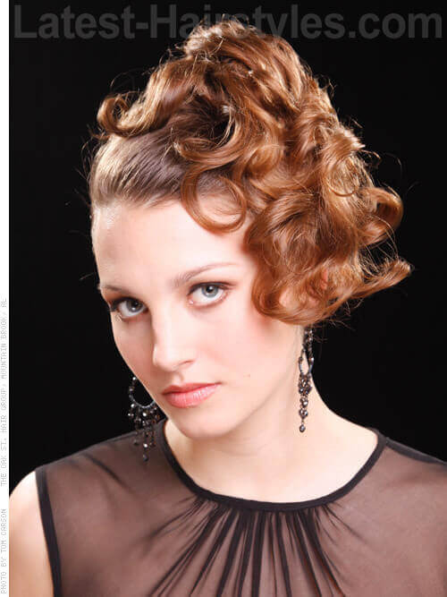 Auburn Arrangement Asymmetrical Updo