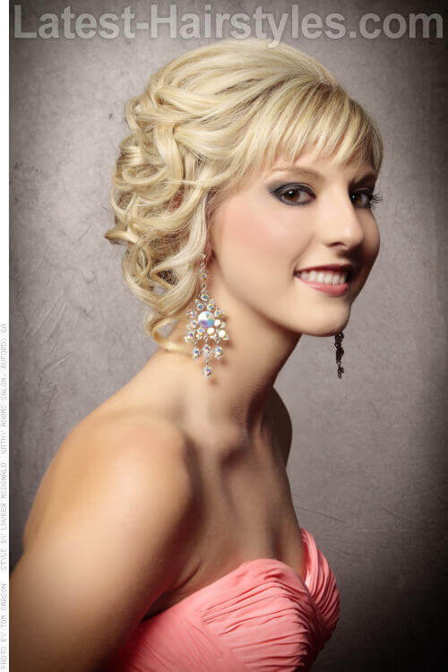 Bangs and Curls Pretty Updo