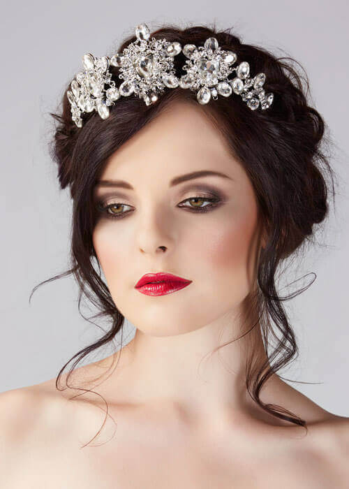 Crystal Crown Hair Piece for Wedding