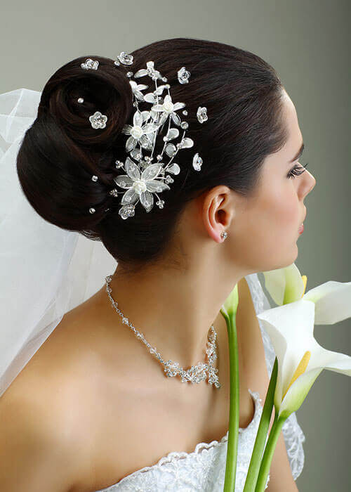 Crystal Mist Hair Piece for Wedding