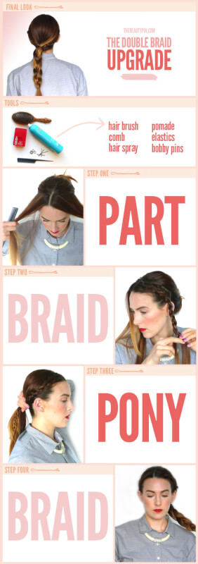 The Double Braided Ponytail Tutorial