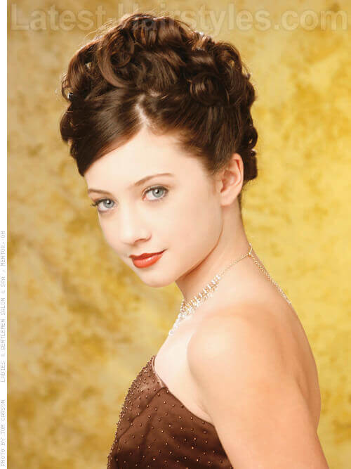 Goddess Curls Elegant Wedding Updo