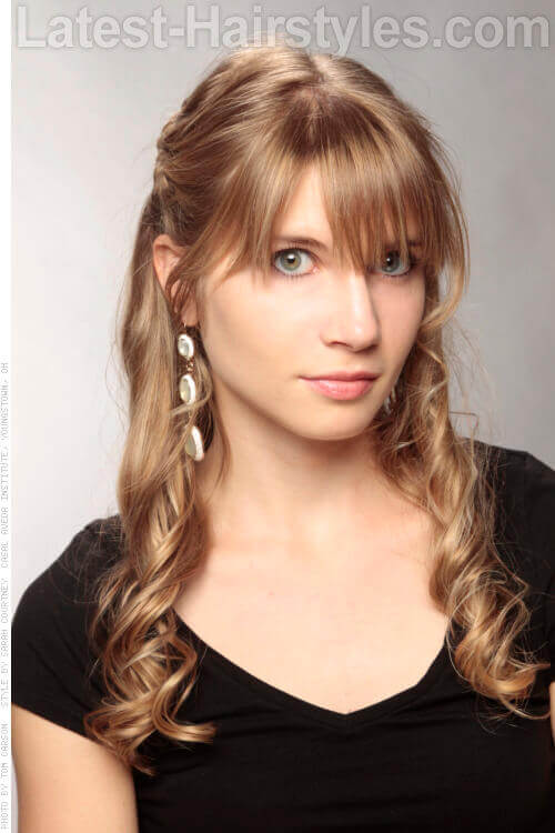 Innocently Sweet Pretty Look with Long Bangs